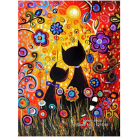 Diy Diamond Embroidery Kits Lovely Cat Full Needlework Square Diamond Painting Cross Stitch Craft Mosaic DF562
