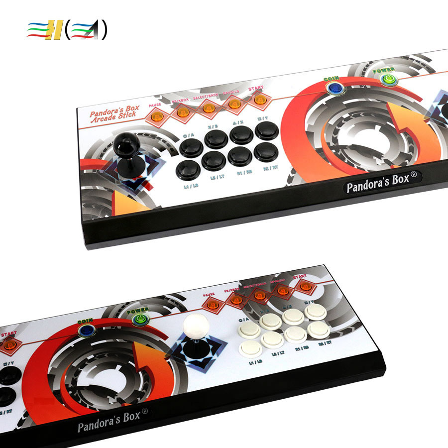 Pandora's Box 6 8 knop arcade console 1300 in 1 kan toevoegen 3000 games 2 spelers HDMI VGA usb joystick voor pc video game ps3 TV - 3