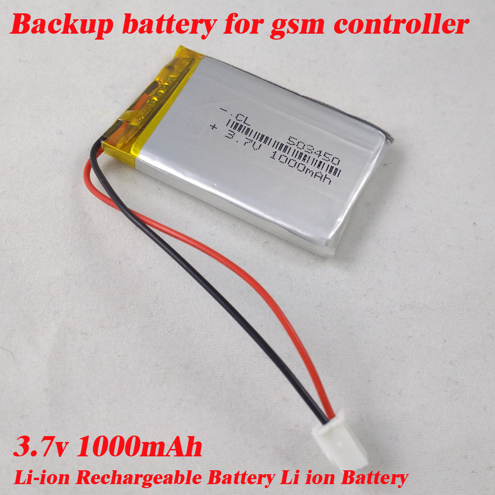 Free shipping 3.7V 1000mAh Polymer Battery li-po Batteries PCM Rechargeable battery for gsm controllers 1pcs 100% orginal firefox 11 1v 1500mah 15c li po aeg airsoft battery f3l15c drop shipping