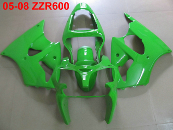 Injection molded top selling fairing kit for Kawasaki Ninja ZZR600 05 06 07 08 green fairings set ZZR600 2005-2008 OT13