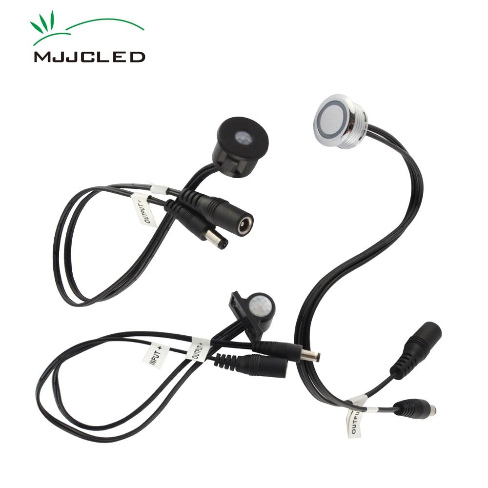 Motion Sensor 12V PIR Sensor 12 Volt 24V Touch Sensor DC Connector Light Movement Detector ON OFF Switch Light Timer Infrared