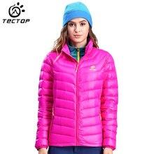 Tectop Winter Jacket Women Thermal Outdoor Camping Hiking Jacket Female Windproof Duck Down Women'S Winter Coat