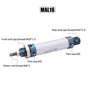 MAL 16mm Bore 25mm-150mm Stroke Aluminum Alloy Pneumatic Cylinder Double Acting Single Rod Air Cylinder(China)