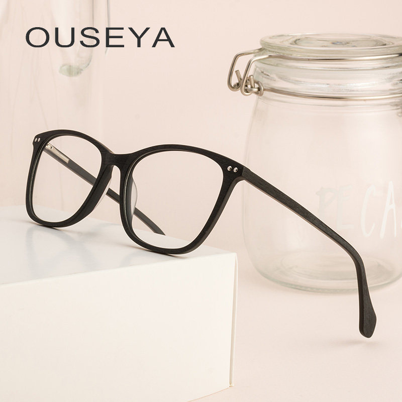 Acetato de Óculos de Armação Homens Rebite Retro Vintage Quadrado Claro  Nenhum Grau Oculos Masculino Óculos 279b9393f0
