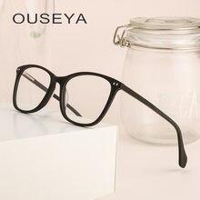 Acetato de Óculos de Armação Homens Rebite Retro Vintage Quadrado Claro  Nenhum Grau Oculos Masculino Óculos de Armação Para Home. 34eabda920