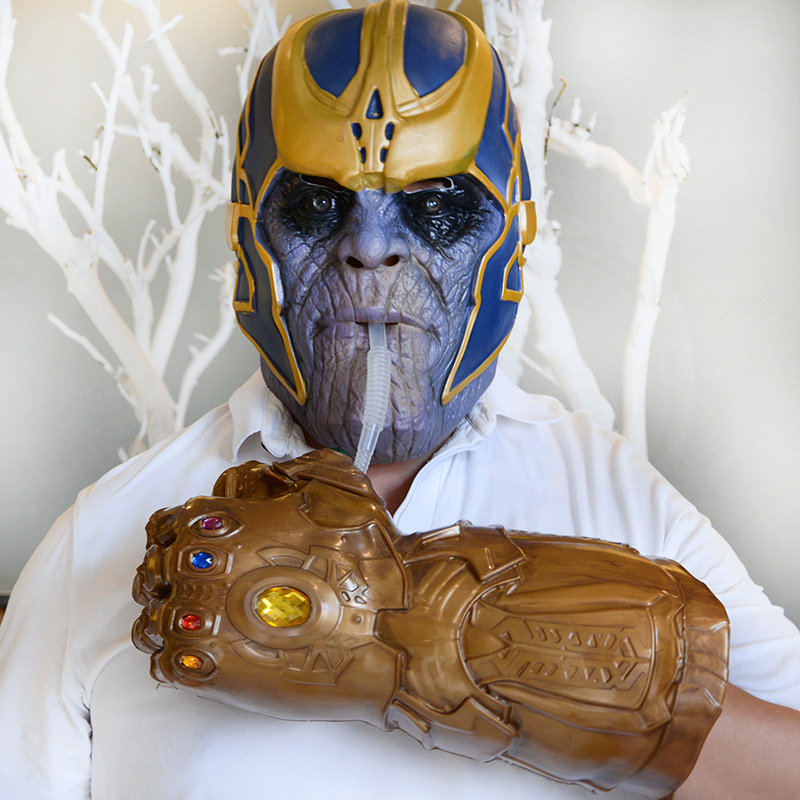 Avengers Thanos Gauntlet Cosplay Gloves Prop Halloween Hard Avengers Marvel Comics Infinity Gauntlet Thanos Energy props thanos