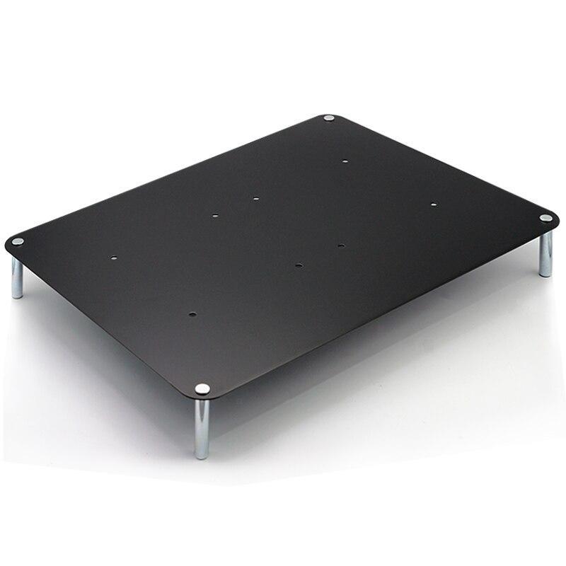 Plaque en acier titane reçoit le support, la conception multicouche, la colonne en acier solide est adapté pour ordinateur portable/routeur