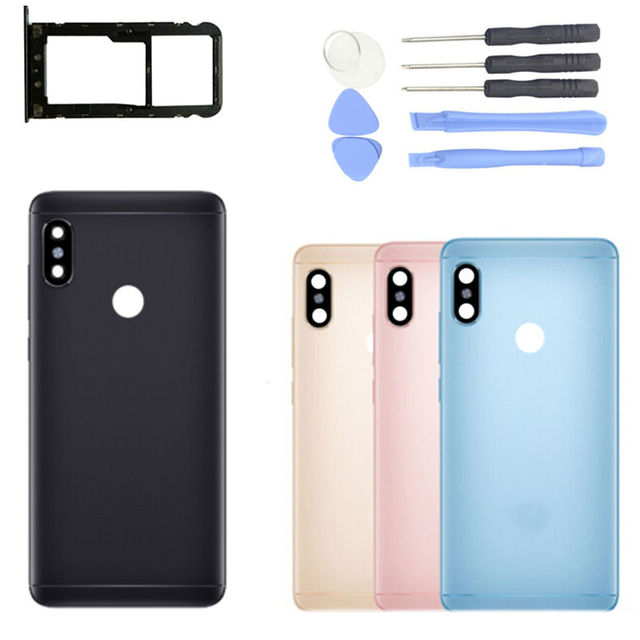 best sneakers 9ecf1 0d423 US $6.74 25% OFF|Original for Xiaomi Redmi Note 5/ Note 5 Pro Battery Back  Cover Rear Housing Metal Door Camera Glass Lens Repair Spare Parts-in ...