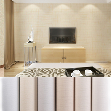 Solid color non-woven fabric Wallpaper Furniture Renovation Stickers Waterproof Kitchen Cabinets Wardrobe Door Wood Decorative 2017 free design custom american solid wood kitchen cabinet with solid wood door panels customized color