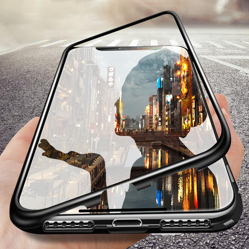 Magnetic Metal Case For Huawei Mate 20 Lite P30 P20 Pro P10 Plus Nova 3i 4 3 2s 2i Honor 10 8X Play 9i V10 X Glass Cover image