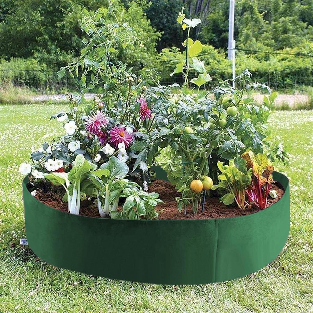 Felt Fabric Raise Plant Bed Flower Elevate Vegetable Flower Box Grow Bag Garded