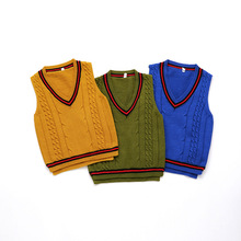 лучшая цена New Kids Sweater Baby Boys And Girls Sweater Child Sleeveless Vest sweater Knitted Baby Clothes Baby Cardigan Sweater