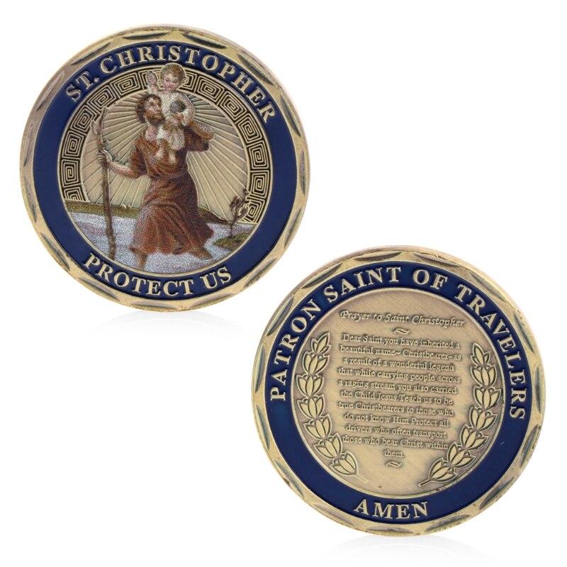 St. Christopher памятная монета, памятная монета, Памятная коллекция монет, памятная монета, памятная монета, монета без денег