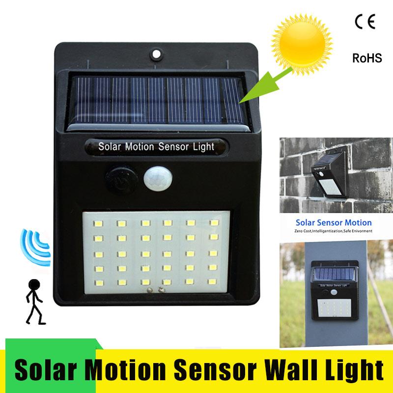 Led Solar Nachtlicht PIR Motion Sensor Wand Licht Wasserdicht 16/20/25/30 LEDs Energy Saving outdoor Garten Sicherheit Solar Lampe