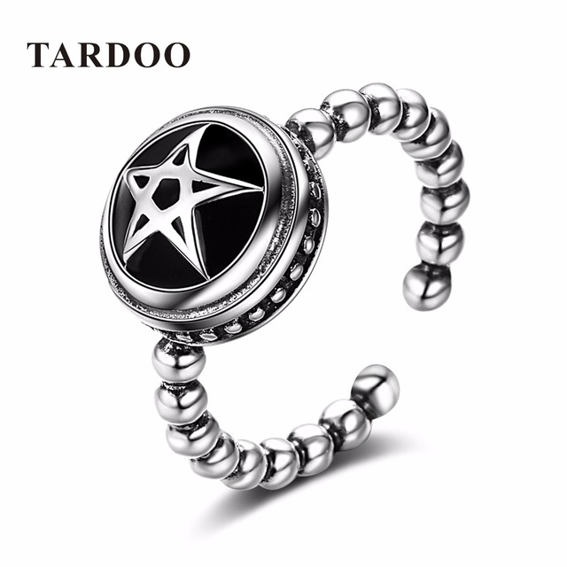TARDOO Trendy Memorial Five-pointed Star Cuff Rings for Women Classic 925 Sterling Silver Rings Fine Jewelry