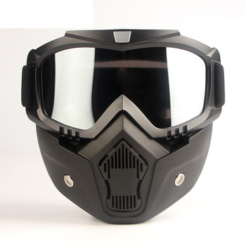 Motorcross Style Protective Face Mask Helmet Filter Goggles Eyewear