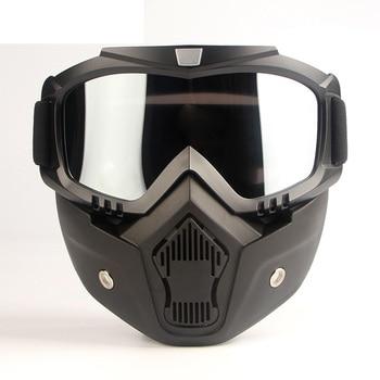 Motorcross Style Protective Face Mask Helmet Filter Goggles Eyewear