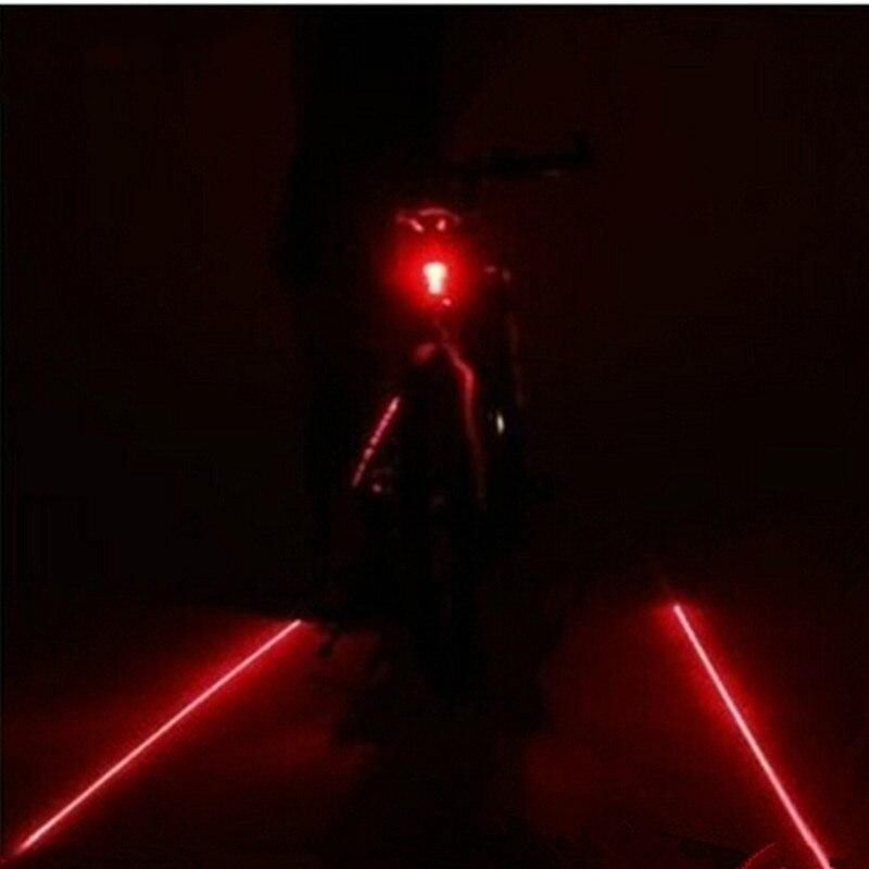 Bike light 7 Flash Mode Safety Rear Lamp 5LED 2 Laser Cycling Bicycle waterproof Laser Tail Warning Lamp Flashing 5 led 2 laser