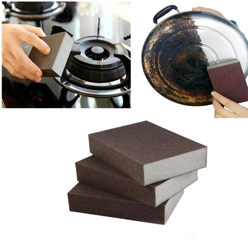 New Brown Carborundum Magic Rub Sponge Clean Brush Kitchen Home Washing Quality Home Supplies Sponge