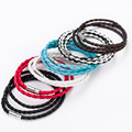 Fashion Male Jewelry Braided Rope Chain Magnetic Leather Bracelet Femme Charm Multilayer Mens Bracelets 2016 Best Friend Gift