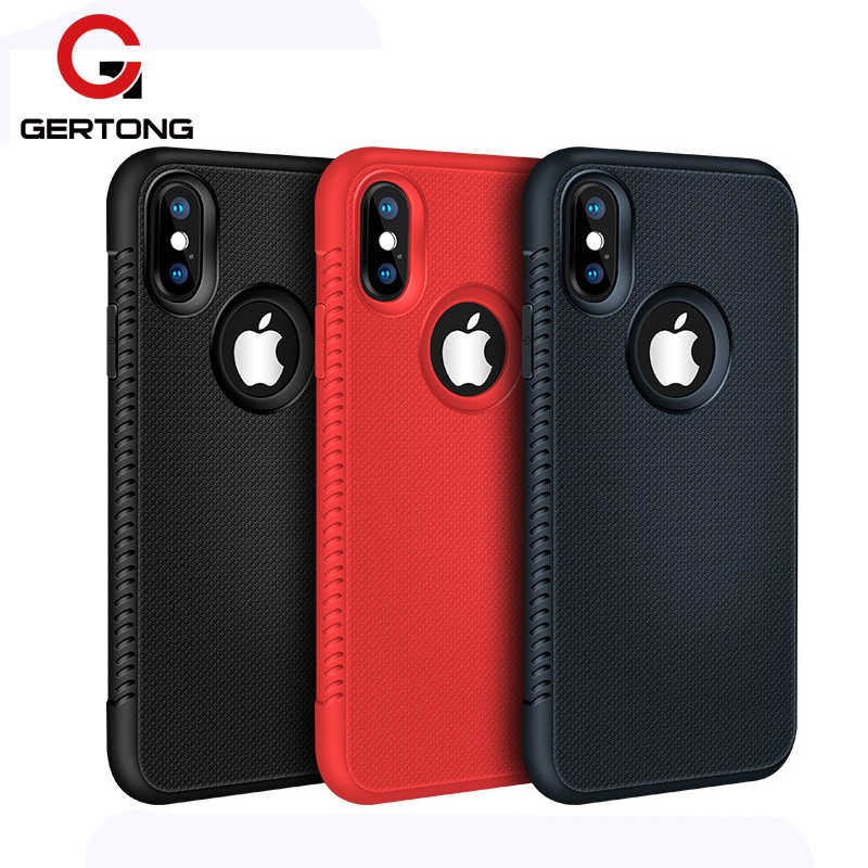 Luxury Soft Silicone Case For iPhone XS X 7 6S 8 Plus 10 Ten Shockproof TPU Cove Heat Dissipation Phone Cases Slim Coque Capa