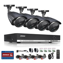 Annke system720p 4ch cctv ahd dvr 4 unids 1.0mp ir resistente a la intemperie al aire libre cámara de seguridad para el hogar sistema de vigilancia kits de alerta de correo electrónico