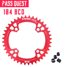 104mm BCD 32T 34T 36T 38T 40T Chain Wheel 4 Paws Red Blcak 7076-T651 Narrow Wide Design Road Bike MTB BMX Chain Ring 1pcs black fouriers bicycle single chain ring p c d 104mm 30t 40t 4mm bike chainrings narrow wide teeth