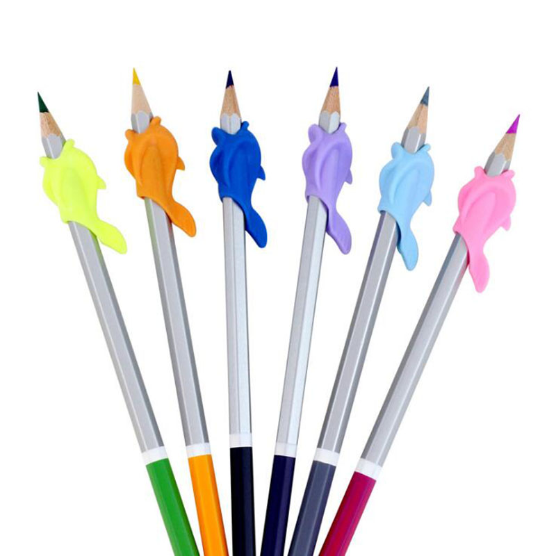 10pc Preschoolers Pupils Hold A Pen Device To Hold A Pen Correction Pen Pencil Writing Tool Silica Gel