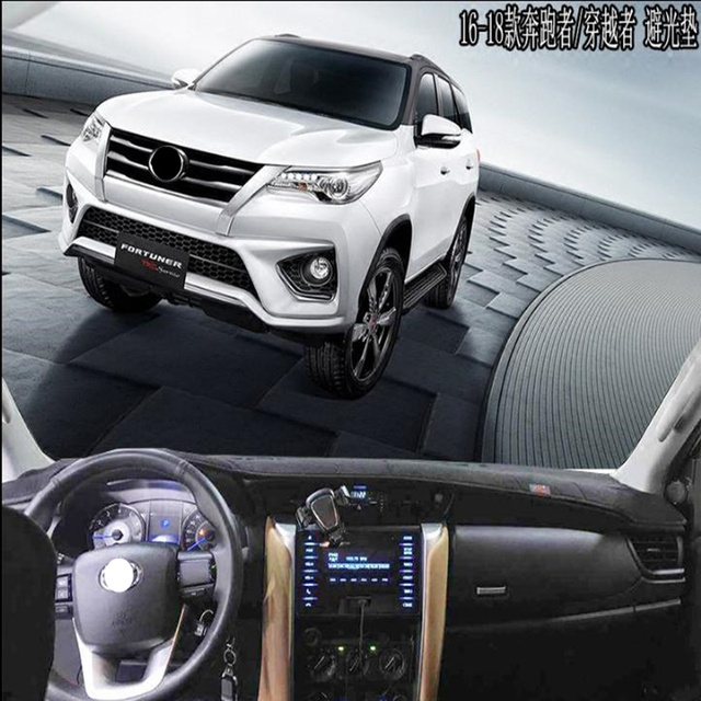 Taijs New Car Dashboard Cover For Toyota Fortuner 2016 2018 Left Hand Drive Auto Rug Mat 16 18