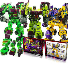 цена на [Yamala]  Transformation 5 NBK NBK-03 Bulldozer Bonecrusher Gravity Builder Devastator figure toy