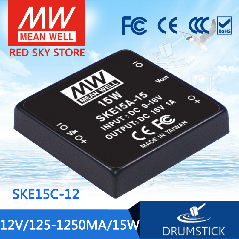 цена на Advantages MEAN WELL SKE15C-12 12V 1250mA meanwell SKE15 12V 15W DC-DC Regulated Single Output Converter