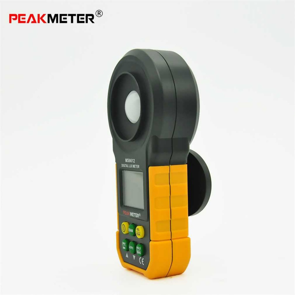 1pc MS6612 Digital Luxmeter 200,000 Lux Light Meter Test Spectra Auto Range Newest New Arrival [randomtext category=