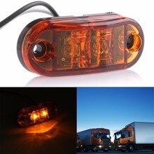 Распродажа боковой фонарь свет лампы автомобиль грузовик, прицеп, дом на колесах 10-32 в пост белого и желтого цвета красный комплект для освещения автомобиля E11 помечены свет