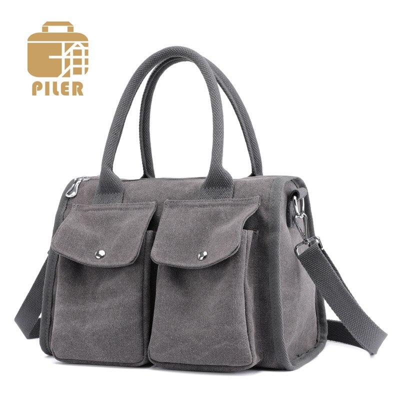 Ladies Hand Bags Women Casual Shoulder Canvas Bags for Women 2018 Handbag Doctor Bag Designer Totes Canvas Crossbody Hobo Bag doctor bag