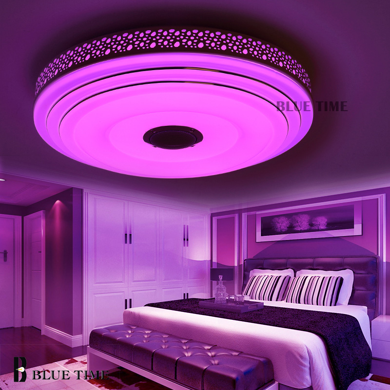 BULE TIME Music Lamp Modern LED Chandelier Lustres With Bluetooth ...