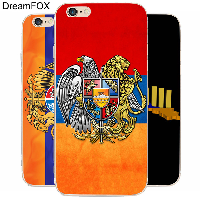 Dream Fox K021 Armenian Symbols Logo Transparent Hard Thin Case