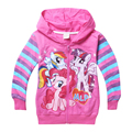 Retail New 2017 Girls Autumn Children Outerwear Little Pony Jackets Coat Hoodies Clothing Roupas Infantil in stock