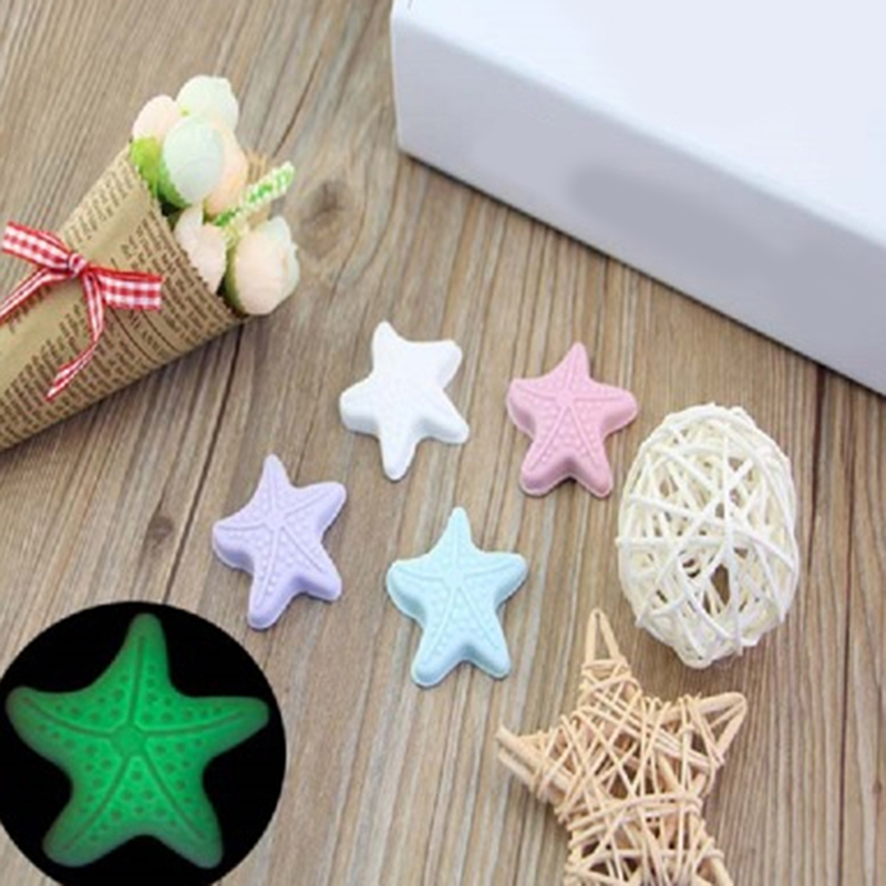 5PCS/Pack Cute Starfish Shape Wall Thickening Mute Silicone Handle Door Lock After The Protection Pad Wall Stickers