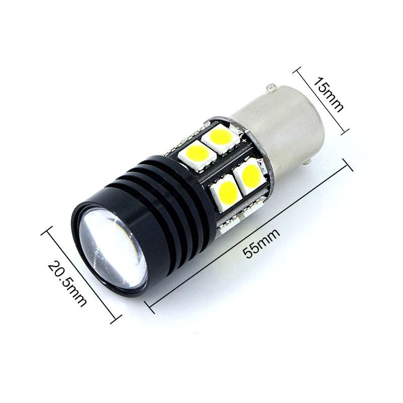 Par 1156 P21W beli Q5 čipi Canbus brez napake Avtomobilska LED - Avtomobilske luči - Fotografija 2