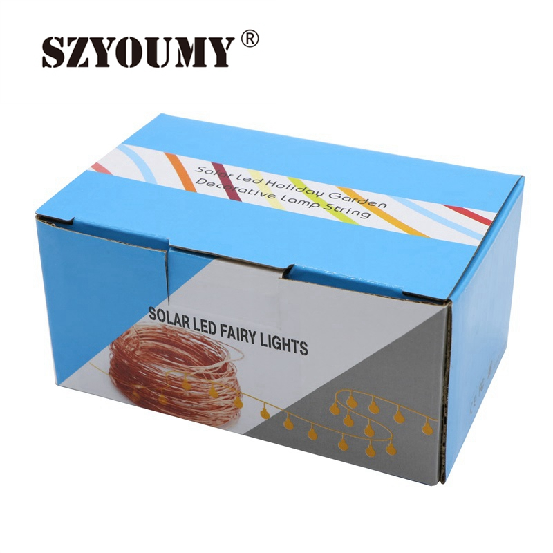 SZYOUMY 100 LED Solar String Lights 33Ft Copper Wire Lights ...