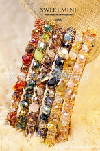 Fashion trendy hand-colored shiny crystal rhinestone hairpin hairpin for girl women hair accessories hats