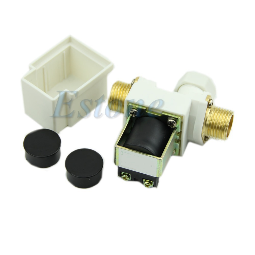 N/C DC 12V 0-0.8MPa 1/2 Electric Solenoid Valve for Water Air New