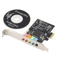 新しいpci express x1 pci-e 5.1ch cmi8738チップセットオーディオデジタルサウンドカード新しい卸
