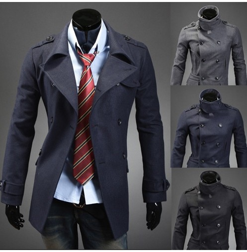 Aliexpress.com : Buy Spring Long peacoat mens fitted wool plus