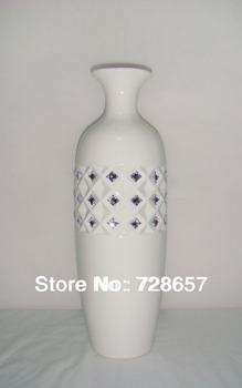 Classic and Simple Style House Decorative Ceramic and Porcelain Refractory Tabletop Vase Handicraft Furnishing