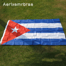 Bandeira cuba para área interna, banner 3x5 pés de poliéster para áreas externas decoração de casa