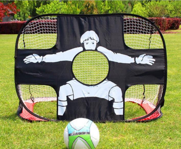 120x80x80CM Dual-purpose Portable Folding football gate Soccer goal net Football shooting ( at the goal ) practice free shipping football goal portable goal kage 183x120x120 3kg
