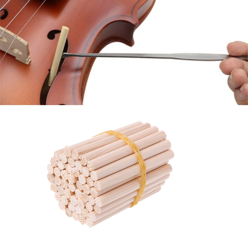 Violin Sound Post Accessories 50pcs 4/4-3/4 Violin Sound Post High Quality Spruce Wood Part Accessories