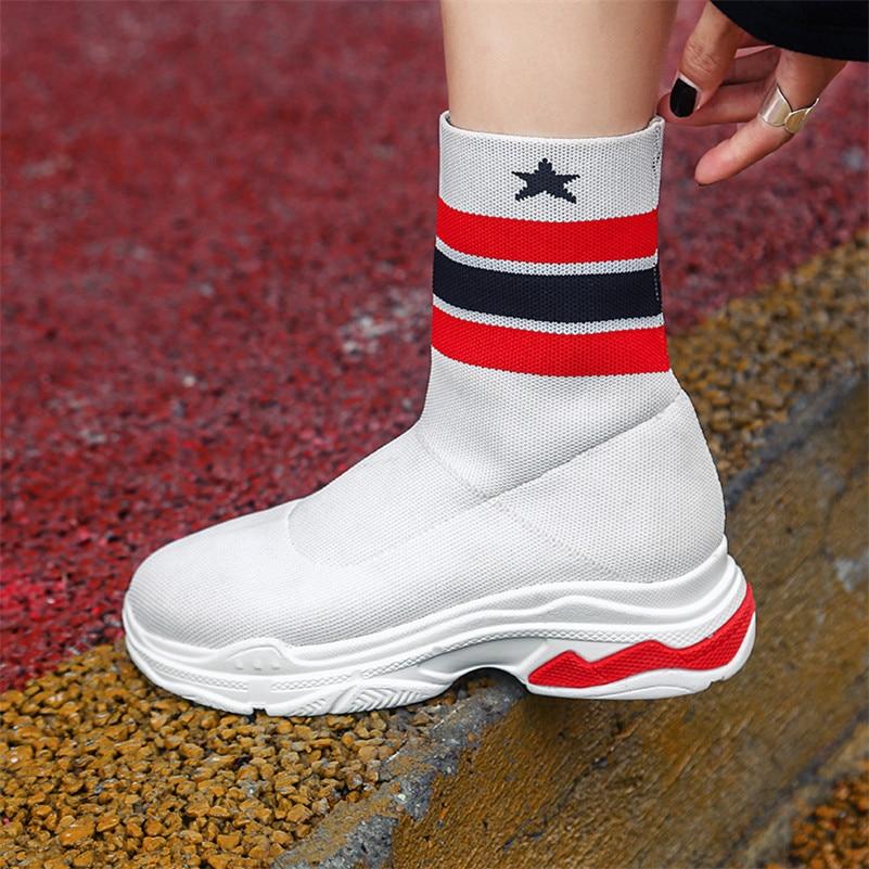 Calidad Pisos Punta Tobillo Mujer Plataformas Elásticas Invierno Casuales Diseño Marca blanco Redonda Botas De Mujeres Conasco1 Zapatos Otoño Negro Zapatillas 4Bq1wTxR