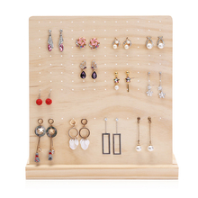 L Type Unfinished Wooden Earring Holder Stand Jewelry Organizer Display Rack Jewelry Tools стоимость